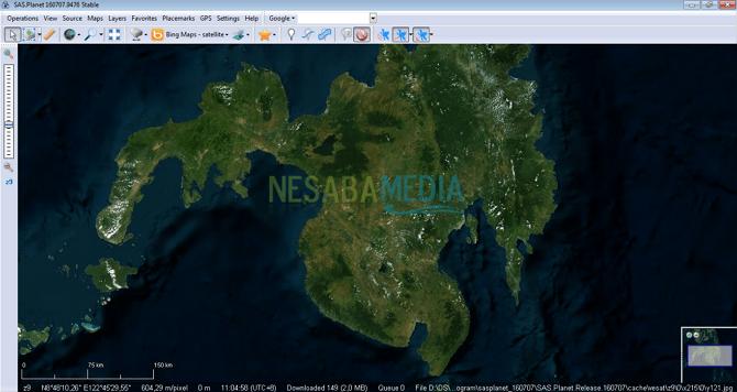 Cara Download Citra di SAS Planet Google Earth
