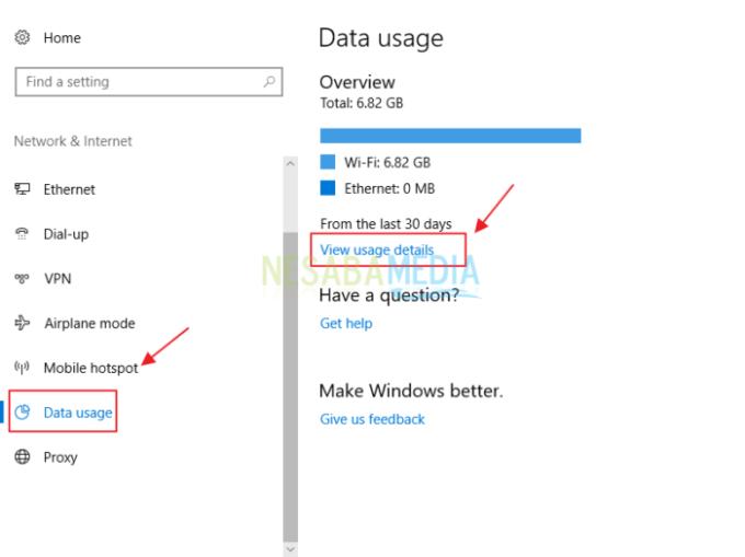 cara menstabilkan koneksi wifi windows 10 melalui data usage
