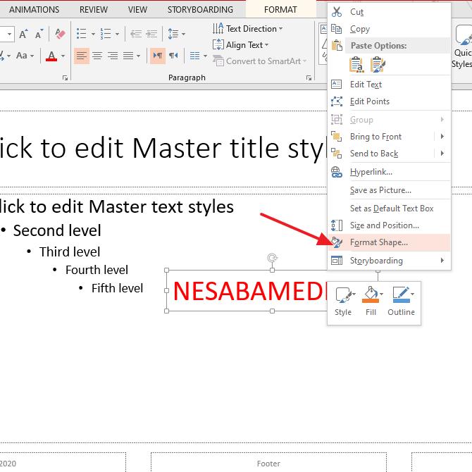 cara membuat watermark di powerpoint