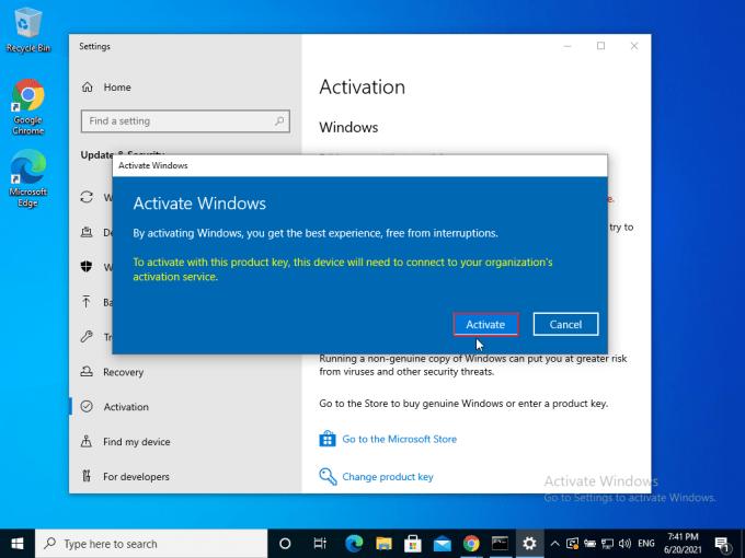 Aktivasi Windows 10 Step 9