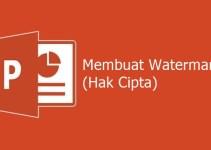 Cara Membuat Watermark di PPT