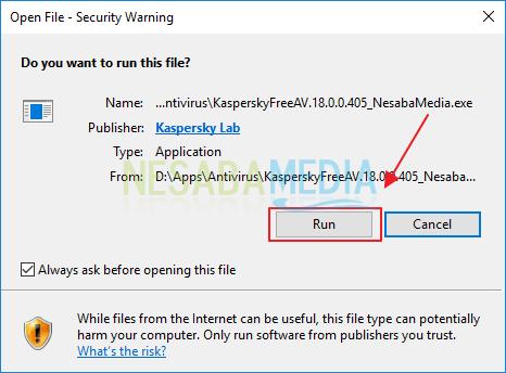 Cara menginstall kaspersky antivirus di pc windows