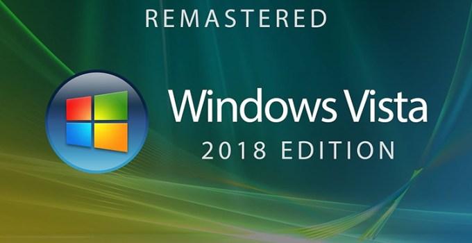 Microsoft Windows Vista Versi Remastered Konsep
