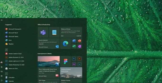Tampilan Desain Ujung Membulat Windows 10 Rounded Corner