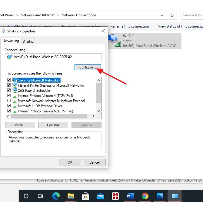 klik configure