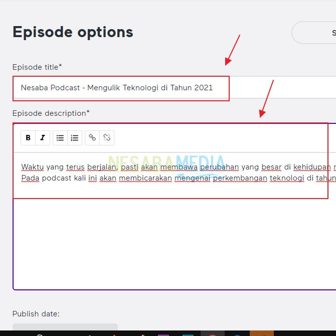 6. Cara Upload Podcast di Spotify