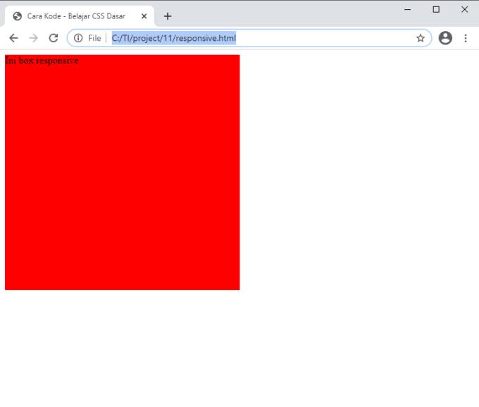 membuat kotak responsive di HTML