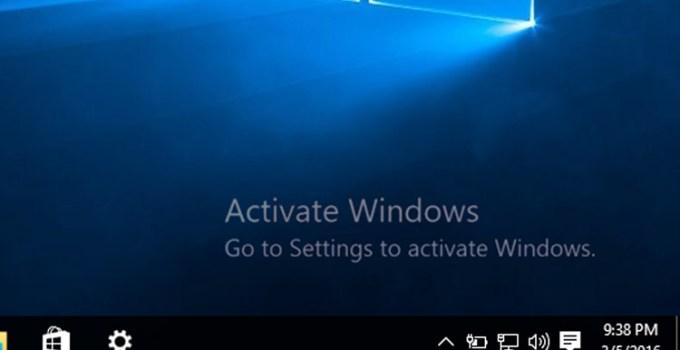 Fitur Windows 10 Yang Tidak Bisa Digunakan Jika Belum Aktivasi