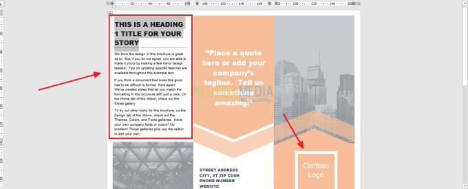 edit brosur