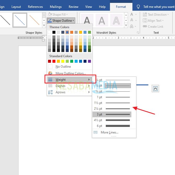 Cara Membuat Garis Putus Putus di Microsoft Word