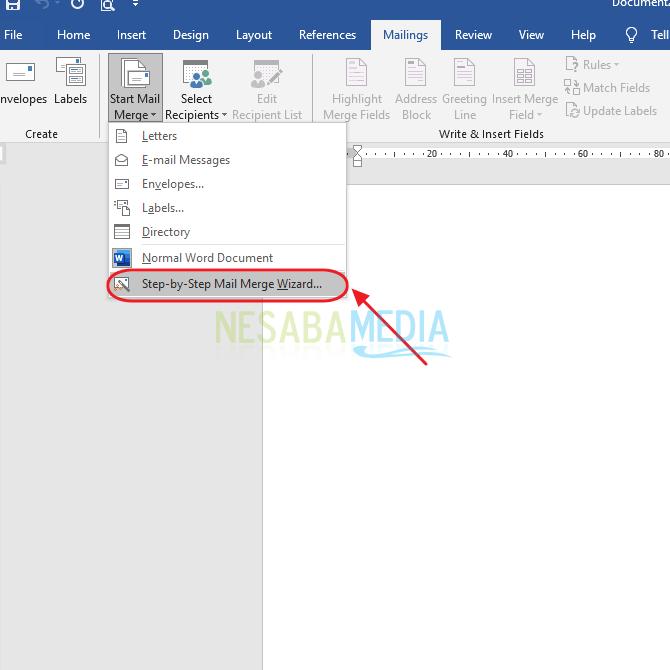 Cara Membuat Mail Merge di Word