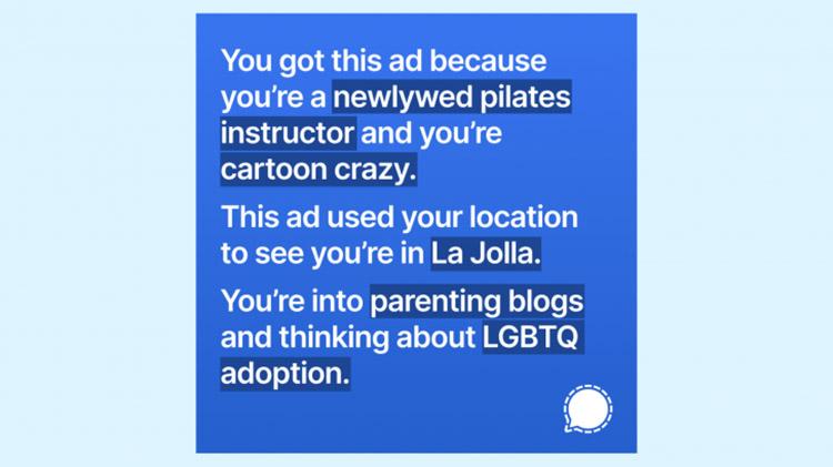 Signal Sindir Kebijakan Facebook Lewat Iklan di Instagram