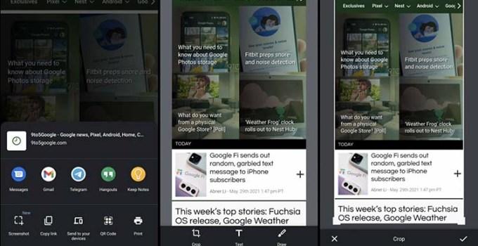 Aplikasi Browser Chrome Android, Kini Miliki Alat Screenshot Sendiri