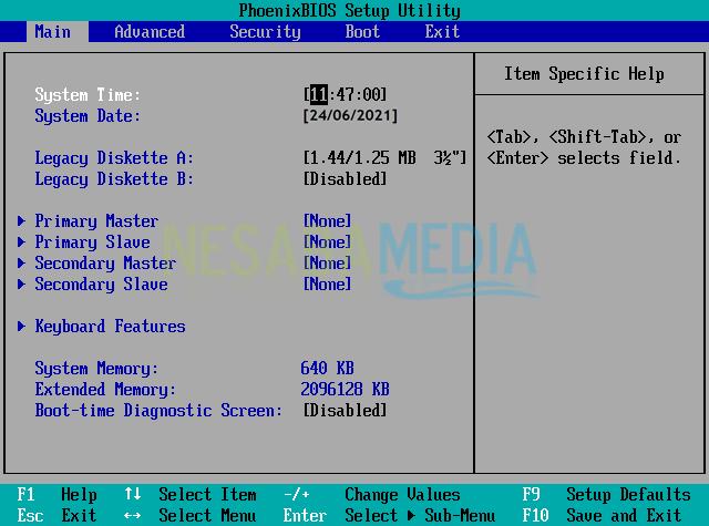 Atur BIOS Agar Booting dari Flashdisk