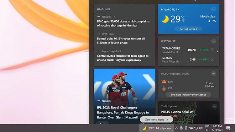 Microsoft Konfirmasi Adanya Bug Pada News and Interest