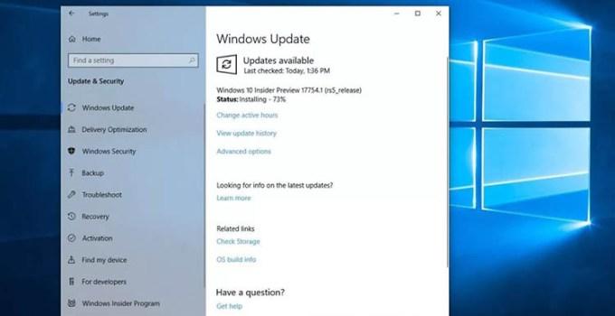 Microsoft Mulai Gunakan Teknologi Machine Learning Untuk Perbarui Perangkat Windows 10 Pengguna