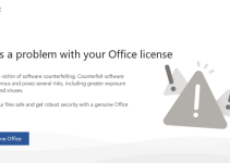 mengatasi there a problem with your office license - featured