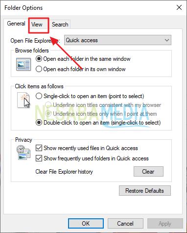 klik menu view