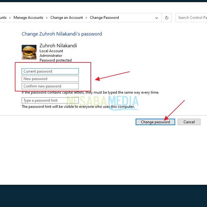 klik create password