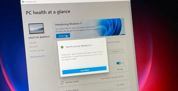 Microsoft Perbaiki Aplikasi PC Health Check, Setelah Ditarik Dari Peredaran