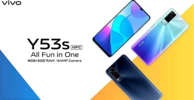 Vivo Y53s Diluncurkan Dengan Helio G80 dan Kamera 64MP