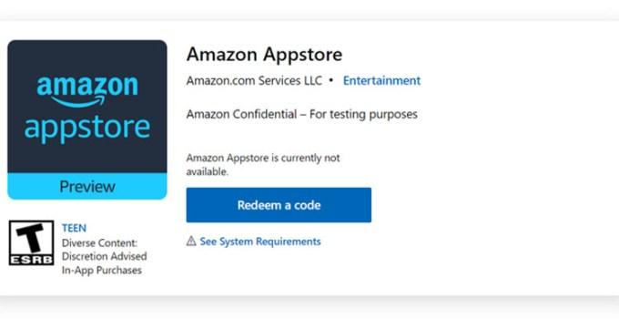 Amazon App Store Muncul di Halaman Microsoft Store