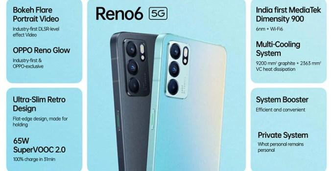 Oppo Reno 6 5G Telah Tersedia, Versi 4G Meluncur Dalam Waktu Dekat