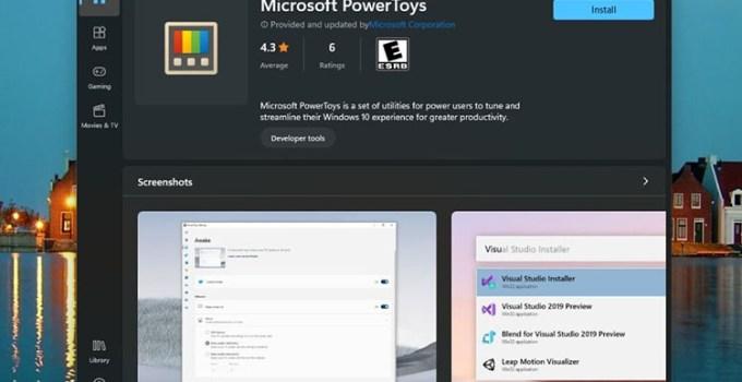 PowerToys Hadir di Microsoft Store Untuk Windows 11