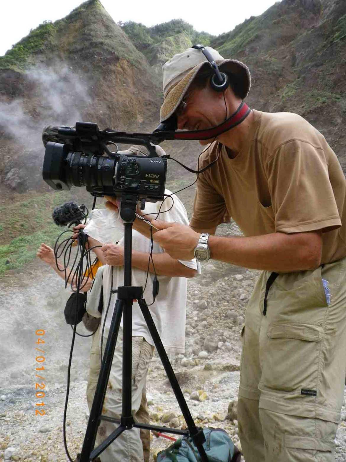 En tournage-Vallée de la Désolation- Ile de la Dominique