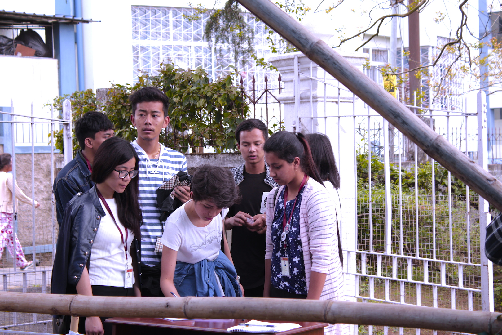 Young students from St. Edmund's College visited the Mei-Ramew market