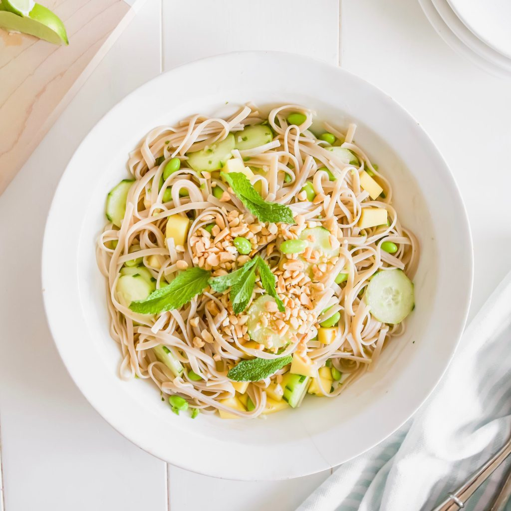 Simple Japanese Soba Noodle Salad Recipe perfect for hot summer days