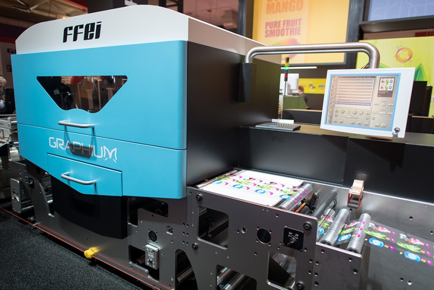 FFEI's new Graphium, a 410mm wide UV inkjet press using Xaar 1001 printheads.