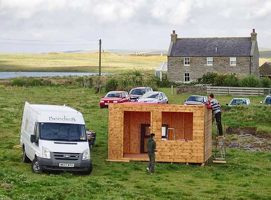 The new OAS Emporium under construction - kindly donated by Beedie Sheds. (ORCA)
