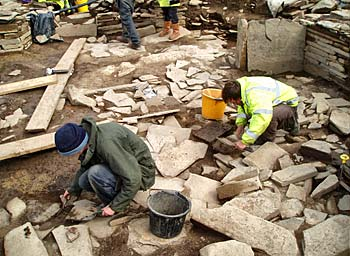The removal of deposits in Structure1 revealing the floor relating to its major second phase