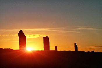 Brodgar Sunset.