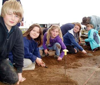 Places available for young archaeologists