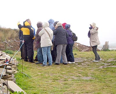 Keith gathers a small crowd for a very wet tour.