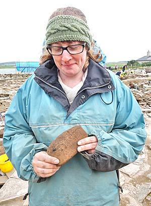 "Natasha with her beautiful ""Shetland knife""."