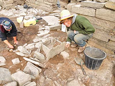 Seb seems quite happy with his anvil stone in Structure Twelve's