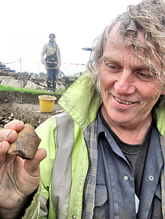 A whalebone mace head fragment discovered by Mark.
