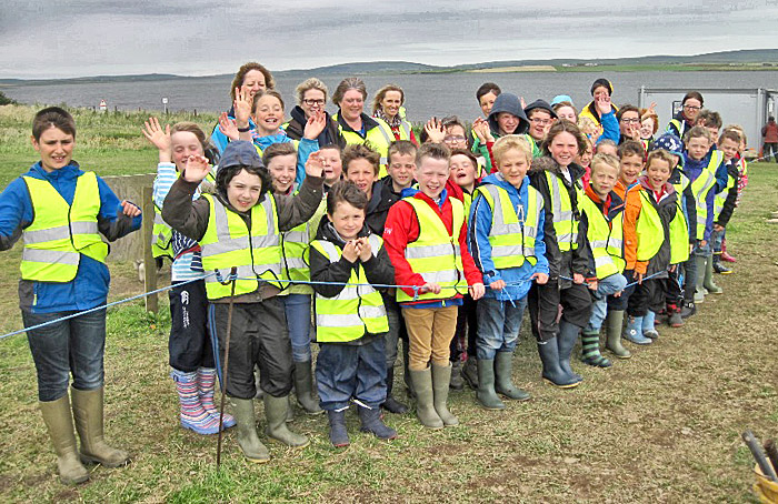 Pupils from Firth School pay their first visit to the Ness.