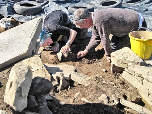 Mai and Jim reveal more of the holed stone in Structure Twelve.
