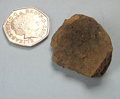 Fragment of a miniature pot from Trench X.