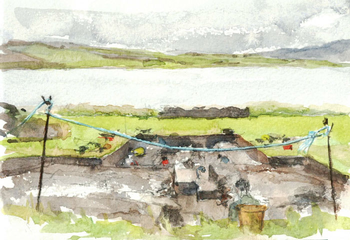 View down Trench T. (Karen Wallis)