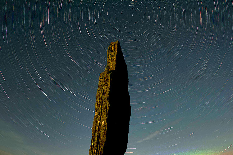A fantastic image of star trails over the nearby Ring of Brodgar, taken by one of our regular diggers, Chris Marshall.