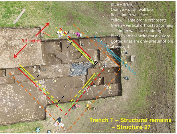 Trench T structural remains.