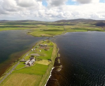 Flight over the Ness of Brodgar