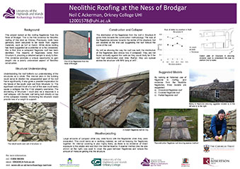 Neolithic roofing at the Ness of Brodgar - click for more details.