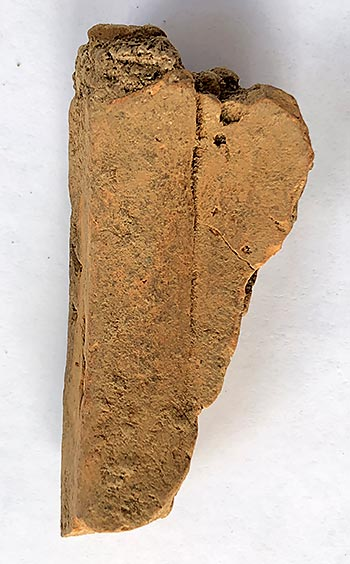 The pot sherd from Trench J.