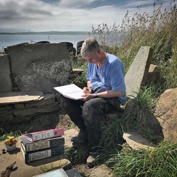 Structure Twelve supervisor Jim in his custom-built paperwork nook.